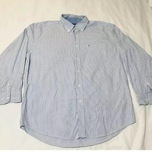 Tommy Hilfiger striped long sleeve dress shirt XL